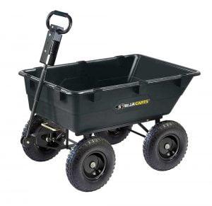 Gorilla Carts GOR866D Heavy-Duty Garden Poly Dump Cart