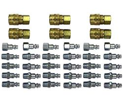 Milton S-210 1-4Inch NPT M-Style Coupler and Plug Kit