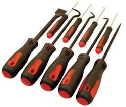 ATD Tools 8424 9-Piece Scraper, Hook and Pick Set
