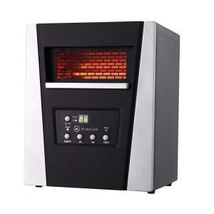 Homegear 750W Infrared Electric Portable Space Heater Black + Remote Control