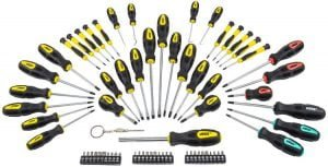 JEGS 80755 69-pc Magnetic Screwdriver Set With Bits