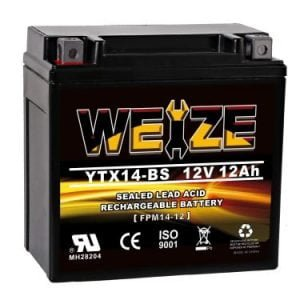 Weize YTX14BS ATV Battery