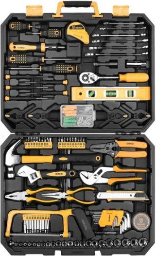 DEKOPRO 168 Piece Socket Wrench Auto Repair Tool Combination Package Mixed Tool Set