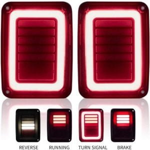 LITE WAY Upgraded Jeep Wrangler JK LED Tail Lights