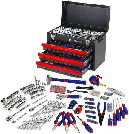 WORKPRO 408-Piece Mechanics Tool Set