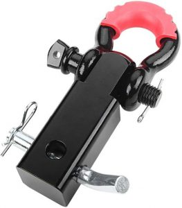 A-KARCK 2 Inch Shackle Hitch Receiver Fits 2 Inch Receiver Tube