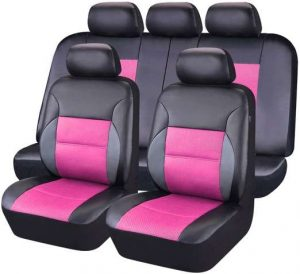 CAR PASS 11PCS Leather Universal Car Seat Covers