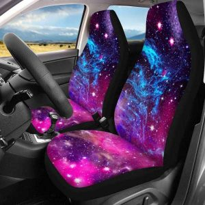 INSTANTARTS 2 Piece Polyester Comfort Galaxy Vehicle Seat Protector