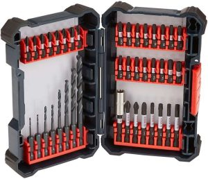 BOSCH 40 Piece Impact Tough Drill Driver Set DDMS40 - Twist Drill Bits